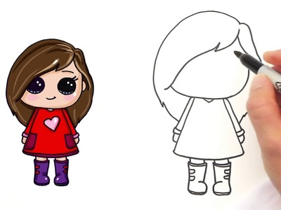how to draw a girl easy and cute 1