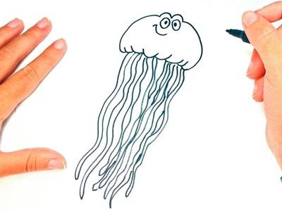 How to draw a Jellyfish   Jellyfish Easy Draw Tutorial