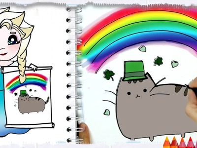 How to Draw  Saint Patrick's Day Pusheen Cat Easy
