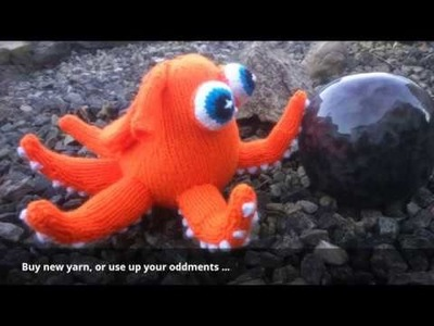 How to Knit a Hank the Octopus soft toy on Ravelry