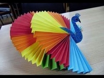 How to make 3d origami peacock  Activities for kids  Craft activities for kids   YouTube