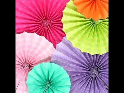 How To make a cool colourful hand fan