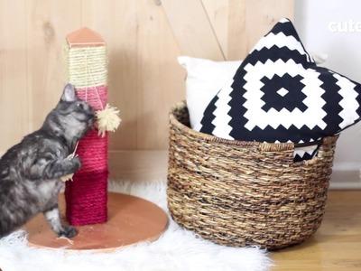 How To Make A Trendy Cat Scratch Post - Cuteness.com