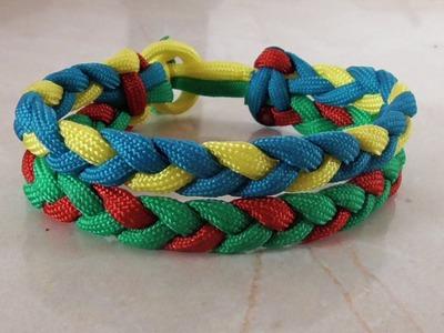 How To Make An Adustable Paracord Rastaclat Friendship Rastaclat Bracelet Tutorial