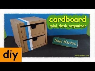 How To Make Cardboard Mini Desk Organizer | by Hobi Kardus