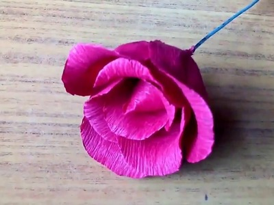How to make crepe paper Rose Valentine s Day gift idea