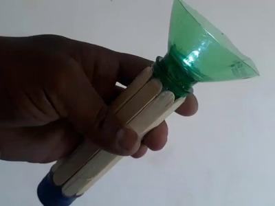 How to make Flashlight Using Plastic Bottles || popsicle sticks LED TORCH