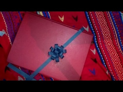 How to make gift flower from colour paper.