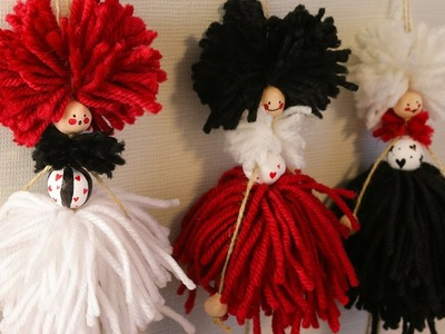 How to make handmade doll for DIY gift_wall decor idea