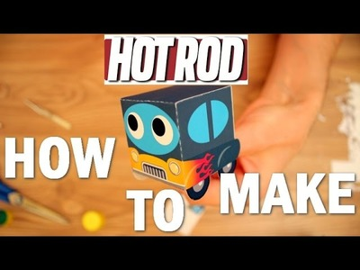 How to make HOTROD race car. Learn video for children. Cars Toon