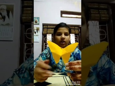 How to make origami butterfly. with rock on girls