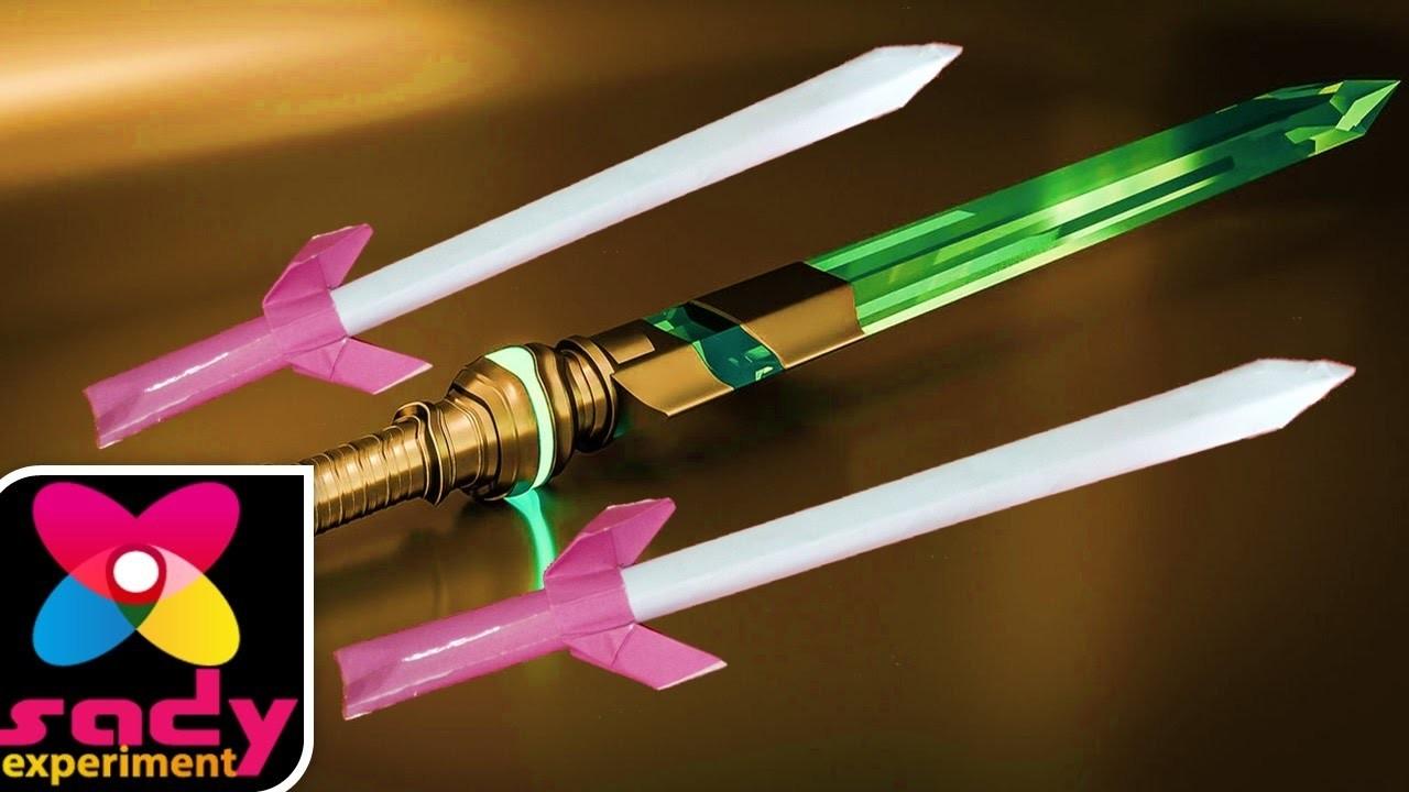 Paper Crane Sword Origami How To Make Brand Scimitar Glaive Spit Bilbo At Home