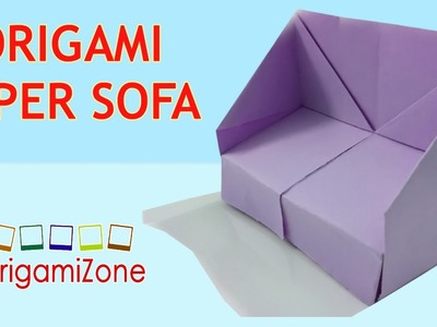 How to Make Origami Sofa | Origami Instructions For Kids | Make Paper Sofa Craft
