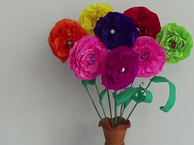 How to make paper Flowers | Home Decorations | Origami