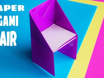 How To Make paper origami Chair : EASY STAP