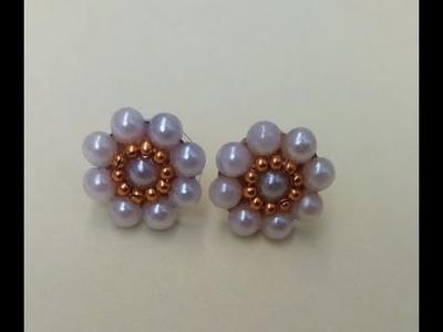 How to make pearl studs   DIY pearl earrings