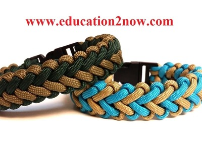 How to Make the V Hitch Paracord Bracelet nice The easy way