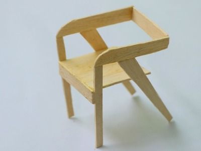 How to Make Wooden Chinese Chair Using Popsicle Stick - DIY Easy Ideas