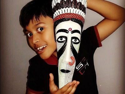 How to Paint Terracotta Mask   DIY How to Decorate Kids Room   How to make Decorative Wall Hanging