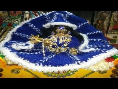 Knitting woolen cap for laddu gopal ji - In Hindi