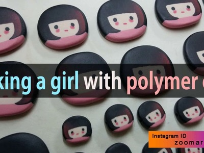 Make a girl character with polymer clay