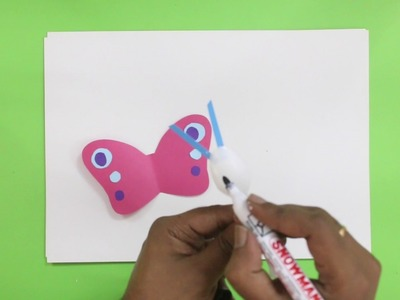 Making a Butterfly from paper and plastic spoon