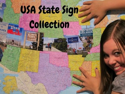 My State Sign Collection | DIY Map Collage