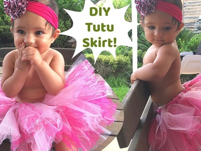 No Sew Tutu skirt for baby | Perfect for first birthday party or photoshoot | DIY