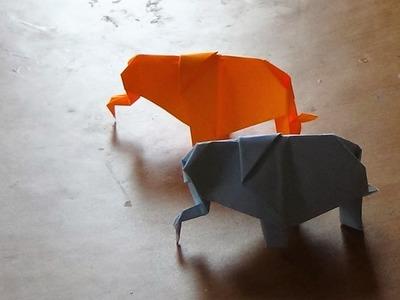 Origami Art  - How to make an origami  elephant