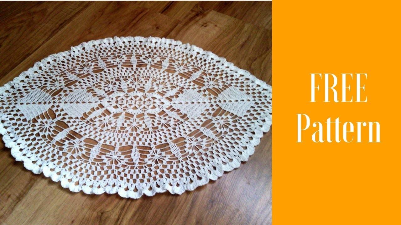 Oval Crochet Doily Pattern To Crochet Oval Doilymple Crochet