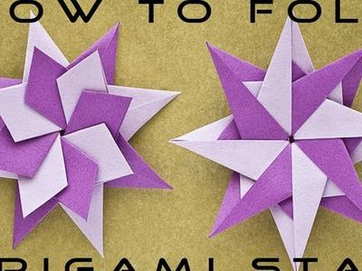 Paper Craft : How to Fold  Origami Star Bangla Tutorial | Habib Nabil