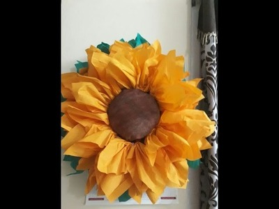 PAPER CRAFTS#2|How to make Paper Sunflower