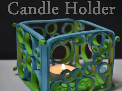 "Paper Quilling Art- How to make a Candle Holder - Birthday Gift Ideas ""Knowledge for Public"""