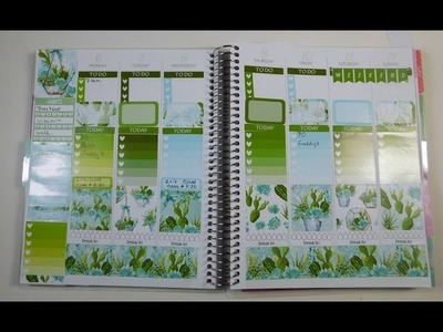 Plan with me in my Recollections Planner –Terrarium Plants– (ft Sweet Paper Prints)