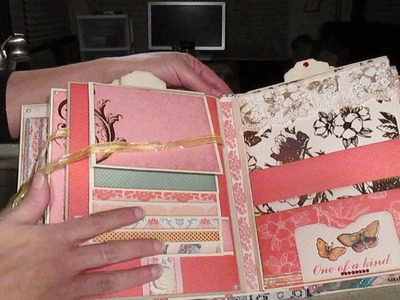 "Scrapbooking mini album with ""Coral couture"" paper collection (For sale $70 + shipping)"