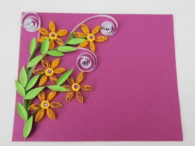 Scrapbooking quilling flowers DIY Greeting card Invitation card papercraft