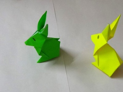 Simple Origami Art -  How to make an Origami Rabbit