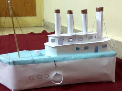 Titanic ship model with chart paper