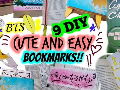 9 DIY CUTE AND EASY BOOKMARKS! 《 BTS 2017 》 | TheCuteBuddingCrafter
