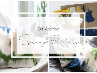 Abstract Spring Pillows [Spring DIY + Decor Challenge]