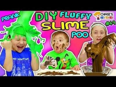 BAD BABY EATS POOP! DIY Fluffy Slime Prank w  Chocolate Chase's Corner #49 DOH MUCH FUN