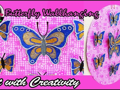 Butterfly Wallhanging | DIY | Art with Creativity 182