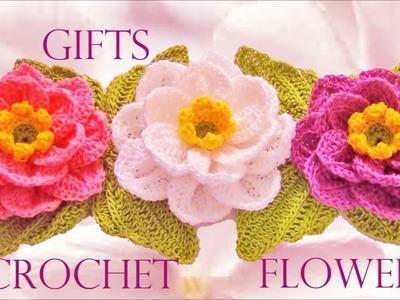 Como hacer flores rosas margaritas a crochet y ganchillo  How to crochet a flower