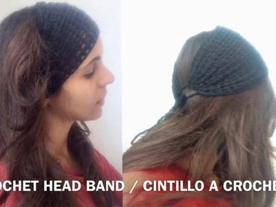 Crochet summer head band. cintillo de verano a Croche