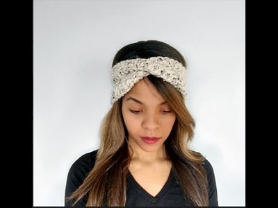 Crochet Twist Turban Ear Warmers