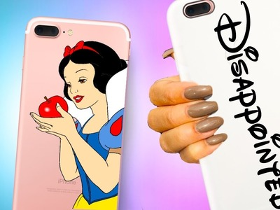 Disney Princess DIY Phone cases! Beauty and the Beast inspired!