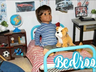 DIY AG BEDROOM! | Diy American Girl Doll Boy Bedroom Vlog