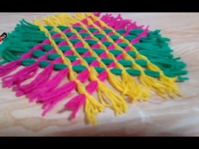 DIY Crafts - How to Make Handmade Colored Hexagon Carpet + Tutorial !
