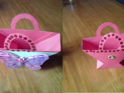 DIY Crafts - How to Make Beautiful Paper Basket for Eid, Valentine,  Christmas Gifts HD