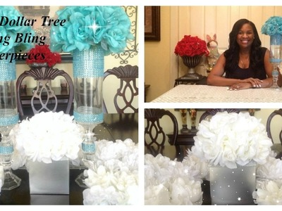 DIY -DOLLAR TREE - SPRING BLING CENTERPIECES  ???????? 2 EASY DIYS | GREAT FOR ANY GLAMOROUS EVENT!!